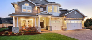 home inspection for buyers home at night